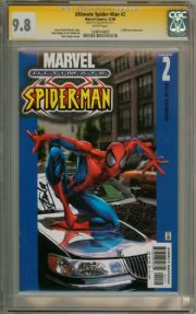 Ultimate Spider-man #2 Car Cover CGC 9.8 Signature Series Signed Stan Lee Marvel comic book